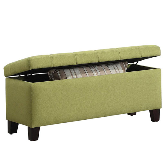 Green Storage Ottoman - Colorful Storage Products