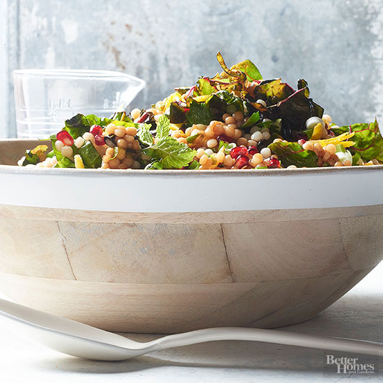 Toasted Couscous & Chard Salad