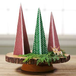 Tabletop Trees for Christmas! 3 Ideas