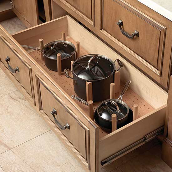 Guarantee That Your Kitchen Drawers Will Never Be Cluttered Again With The  Help Of These Drawer Organizers. Stack Sets Of Dinnerware Or All Your Pots  And ...