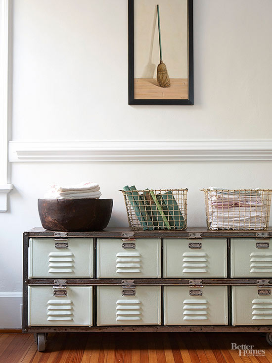 Better Homes And Gardens Sweepstakes >> Genius Ways to Decorate with Metal Lockers