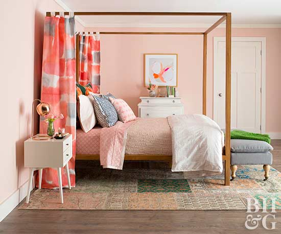 Bedroom With Pink Walls