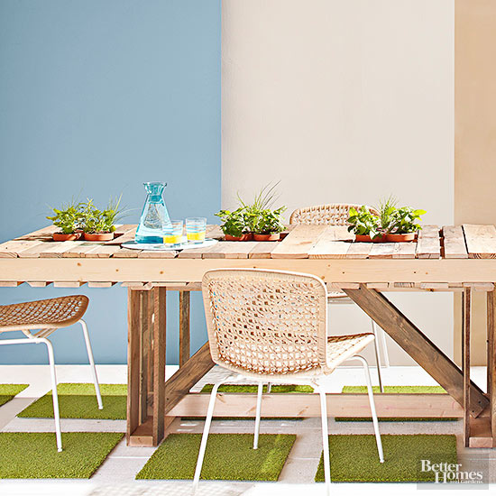 Wood Pallet Outdoor Table, BHG