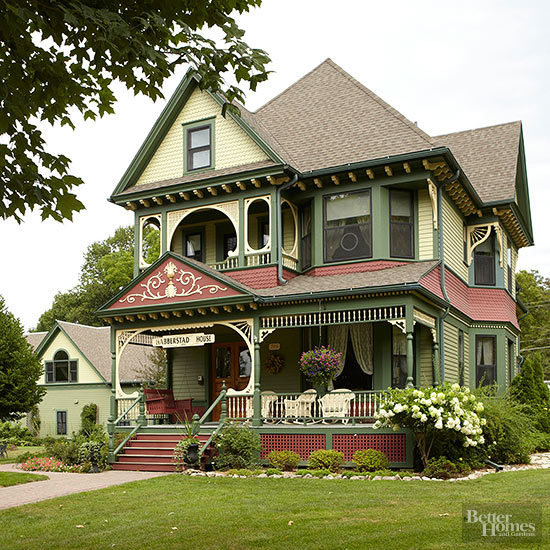 Home Color Ideas Exterior: Victorian-Style Home Ideas
