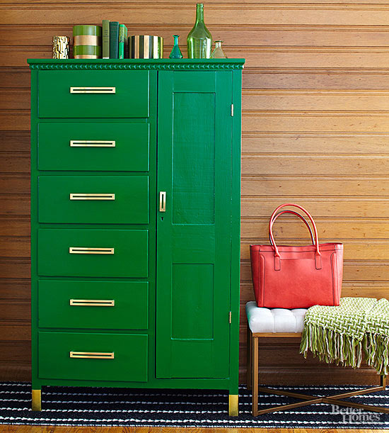 Midcentury-Modern Armoire Makeover with Pretty Storage