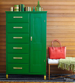 Armoire Makeover with Pretty Storage