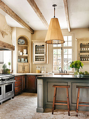 a kitchen with french flair - Old World Style Kitchens