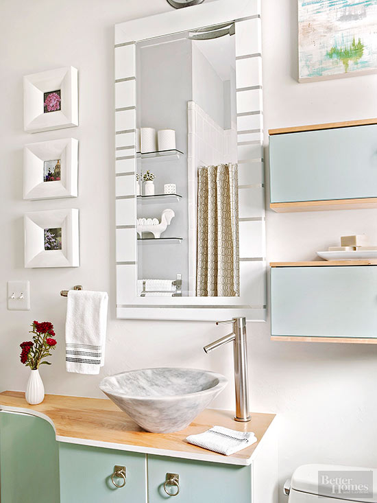 Modern mirror makeover for Do it yourself bathroom ideas