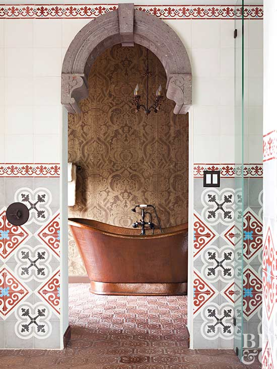 Mediterranean Bath Designs You'll Want to See