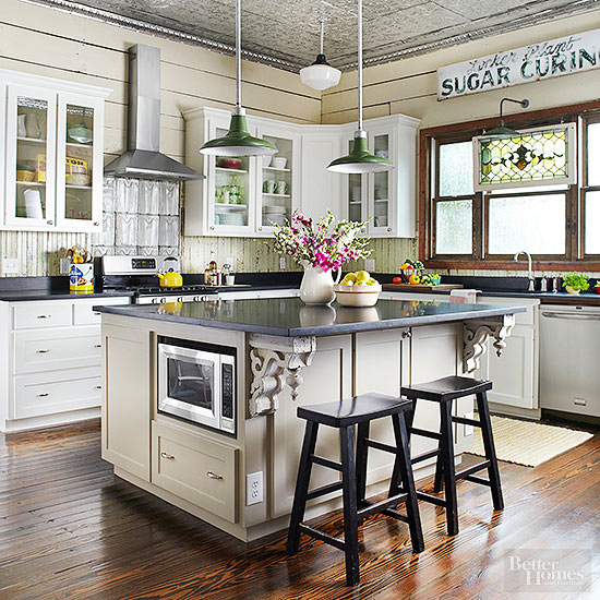 Vintage kitchen ideas for Kitchen gallery ideas