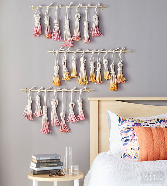 Do It Yourself Home Decorating Ideas: Tassel Wall Art