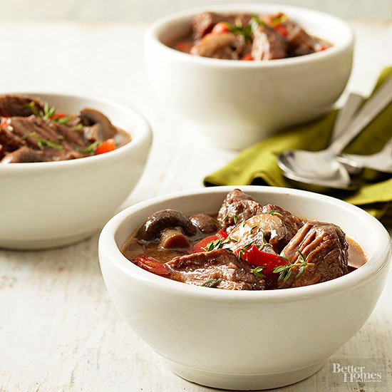 Chunky Pot Roast-Portobello Soup