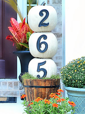 Pretty Front Entry Decorating Ideas for Fall from Better Homes and Gardens
