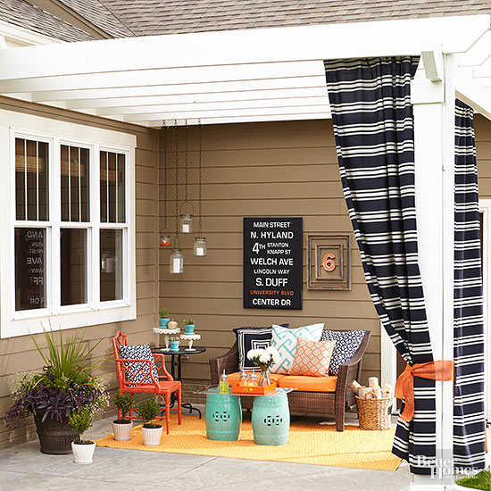 Diy patio ideas for Pictures of decorated small patios