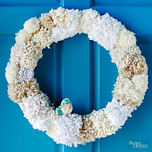 How to Make a Pom-Pom Wreath