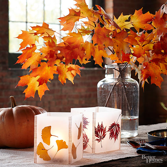 How to Make Leaf Lanterns with Wax Paper