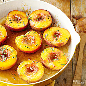 Caramelized Peaches with Fresh Rosemary