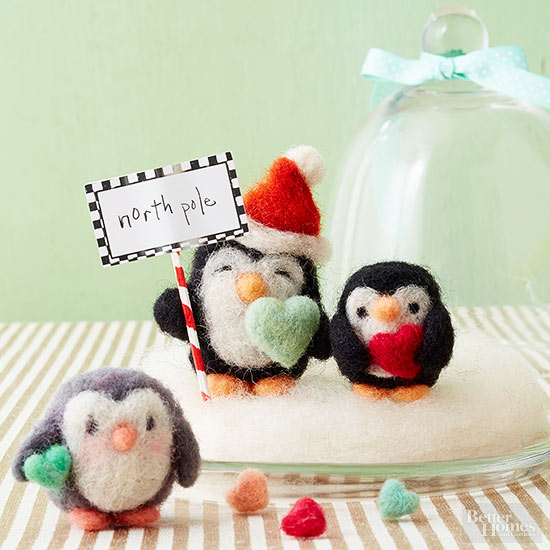 How to Make Needle-Felted Penguins