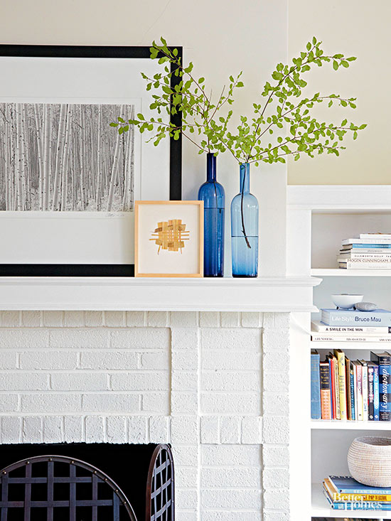 how to paint a brick fireplace - Home Fireplace Designs