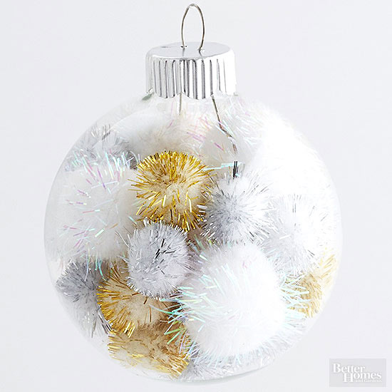 Christmas Ornament Craft Clear Balls : Ways to dress up plain christmas ornaments