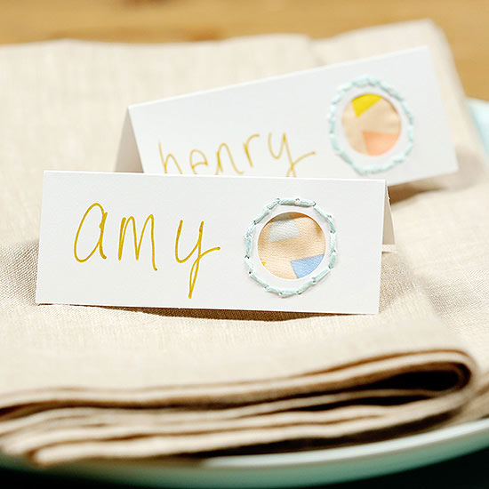 How to Make Place Cards from Crafting Supplies