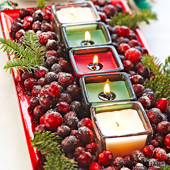 Simple Christmas Home Decorations: Simple Christmas Centerpieces