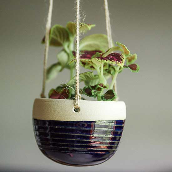 Suspend Your Favorite Houseplant In Style With This Ceramic Creation.  Ceramic Hanging Planter