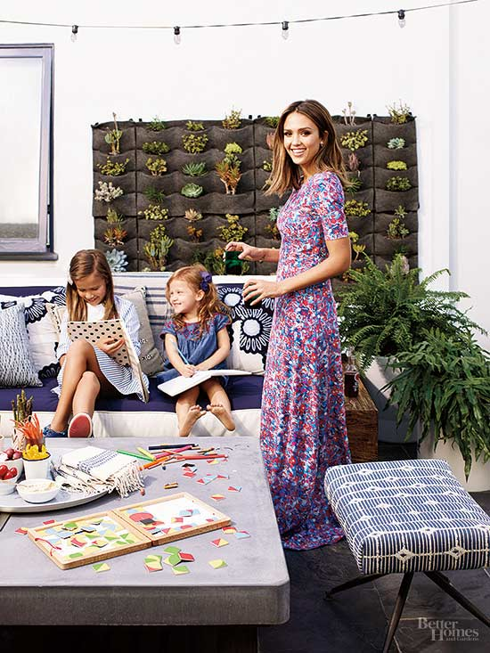 At Home with Jessica Alba