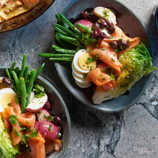 Nicoise style lox salad Bhg recipes may 2016