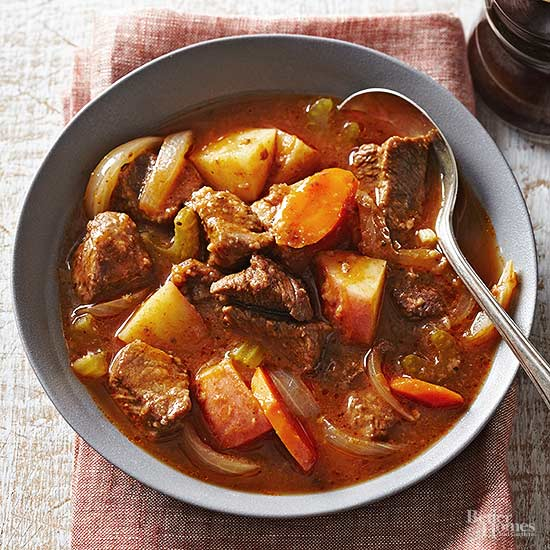 Fast and slow old fashioned beef stew for Slow cooker fish stew