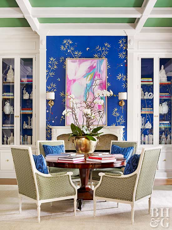 color pattern - Decorating Ideas For Traditional Living Rooms
