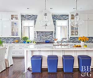 Backsplash Kitchen Blue kitchen backsplash ideas
