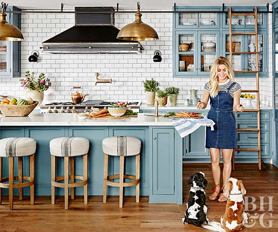 better homes and gardens kitchens julianne persisted until she got the color of the kitchen cabinets a custom mix of baby. Interior Design Ideas. Home Design Ideas