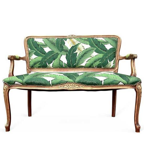 Any Place There S Room To Sit For Banana Leaf Print What Better Conversation Piece Than This Settee From One Kings Lane