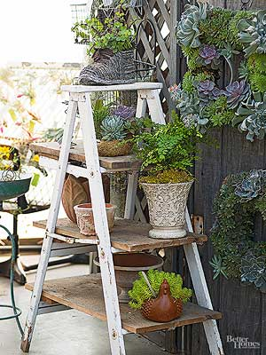Turn Flea Market Finds into Plant Containers