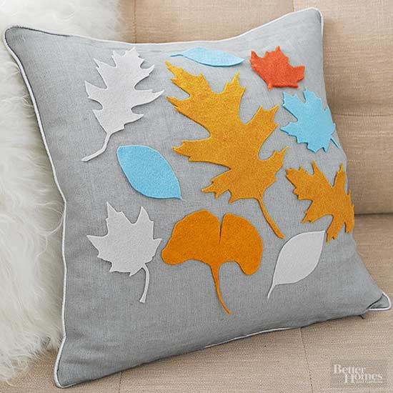 Image result for Felt Leaf Pillow
