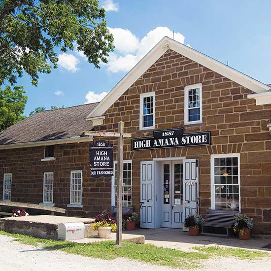 Amana Colonies scenic drive in Iowa