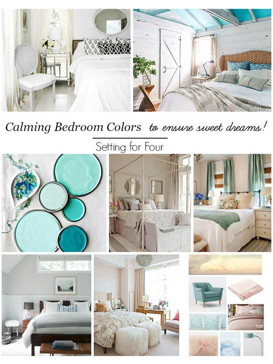 Create a dreamy bedroom with these inspirational calming colors! Read on to  see how soothing bedroom colors can create the restful mood you are looking  for.