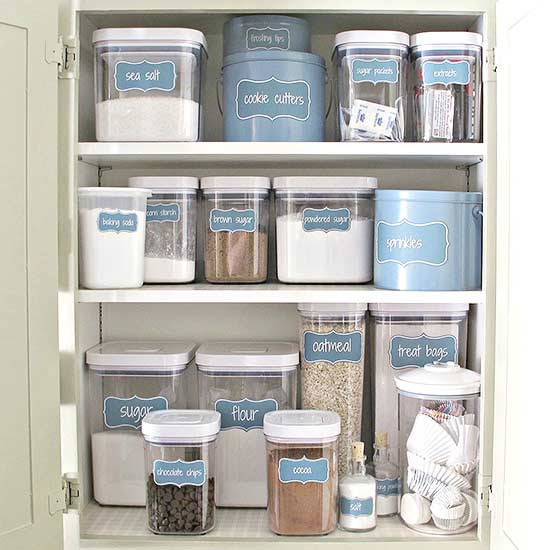 making a space to store specialized pantry items in your cabinets is a great way to free up space in your existing pantry for instance if you do a lot of