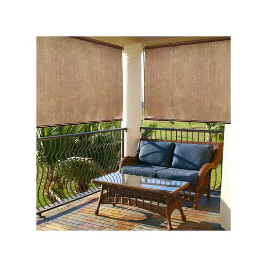 Add privacy outdoors with easy up screens curtains more for Outdoor roll up privacy screens