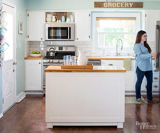 Diy kitchen cabinet and island makeover - Diy kitchen cabinets from scratch ...
