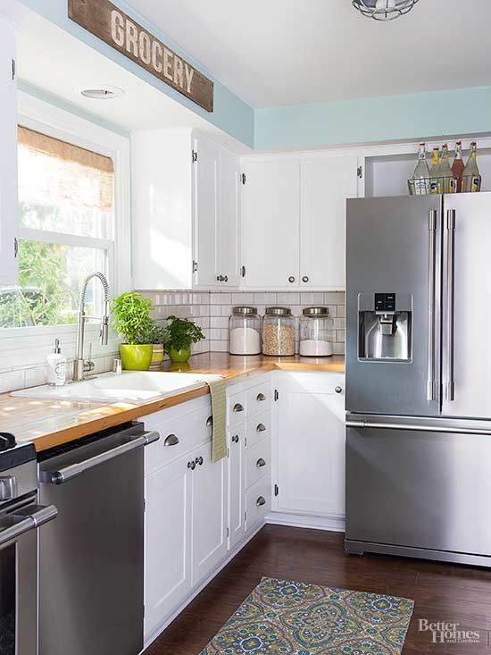 how to change the look of flat kitchen cabinets