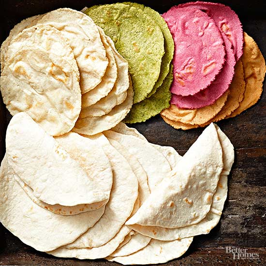 Make Delicious Colored Tortillas with Natural Ingredients