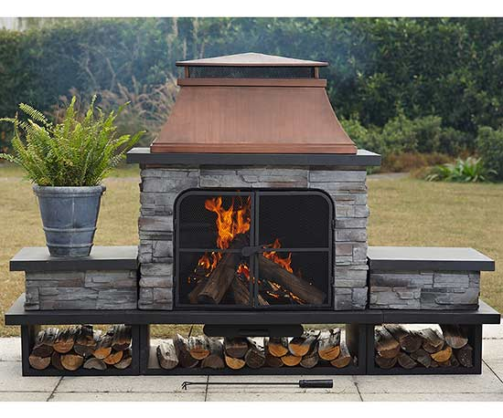 S'mores-Ready Outside Fireplace Finds You'll <3
