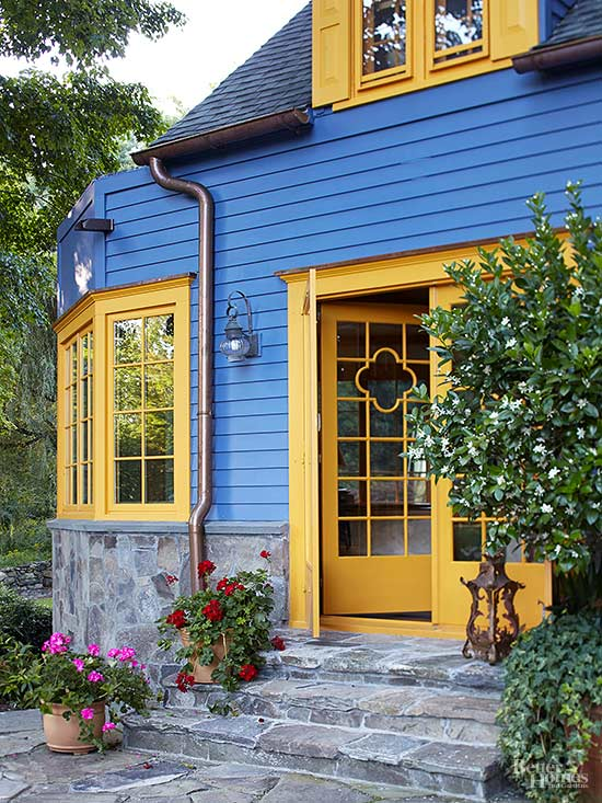 Bright front door colors - Bright house colors for exterior ...