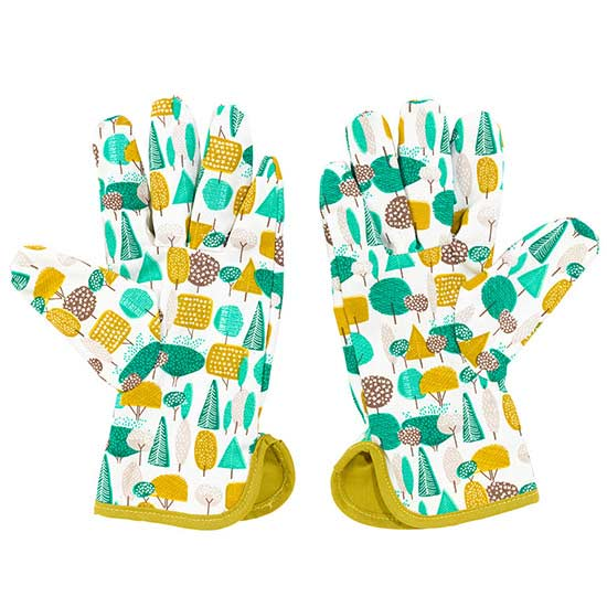Delightful Perfect For The Gardener With A Serious Green Thumb, This Pair Is Made From  Durable Cotton And Features A Bold Tree Design. Tree Gardening Gloves
