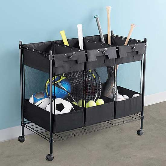 Sports Equipment? No Matter What Youu0027re Using It For, This Triple Storage  Bin Is The Perfect Pick To Sort And Store.