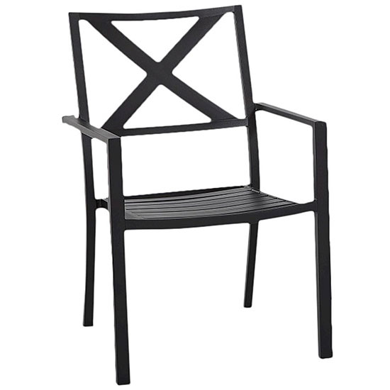 Attractive Stacking The Chairs Under A Patio Furniture Cover Is A Great Solution. This  Black Afton Metal ...