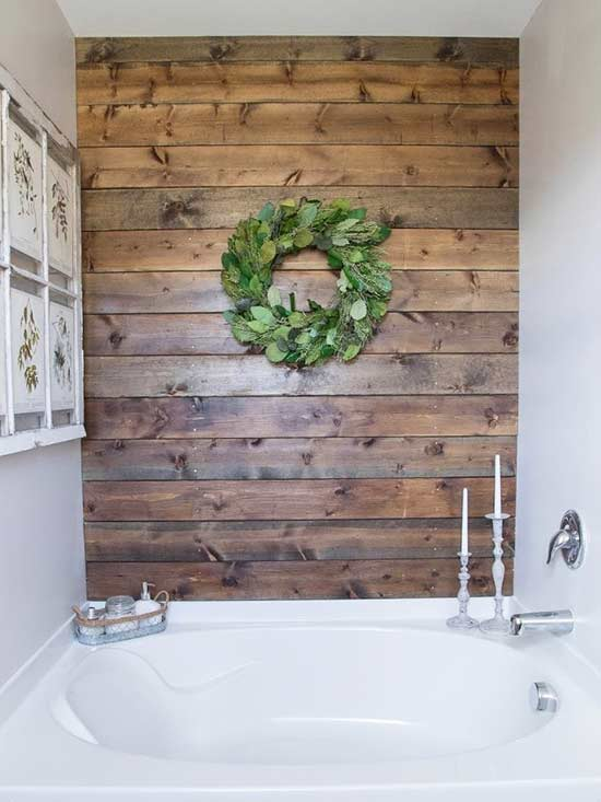1. Install A Wooden Accent Wall