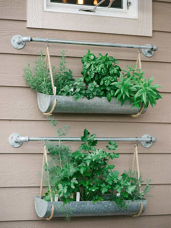These DIY Herb Planters Are Ideal Because They Take Advantage Of Unused  Vertical Space. Theyu0027ll Also Create A Great A Lovely Pop Of Color In Your  Outdoor ...